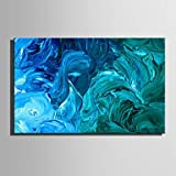 """HJL Pintada a mano Abstracto Horizontal,Modern Estilo europeo Un Panel Lienzos Pintura al óleo pintada a colgar For Decoración hogareña , include inner frame , 20"""" x 28"""""""