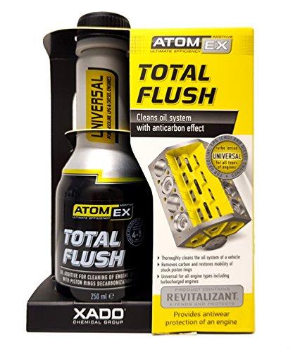 XADO Total Flush Sistema de aceite de lavado de motor limpiador limpiador de motor anillo de pistón limpiador de aceite - ATOMEX