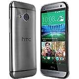 HTC One Mini 2 Hülle in Anthrazit-transparent Silikonhülle Case Schutzhülle Tasche für HTC One M8 Mini (Nicht für das normale M8 geeignet)