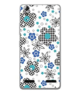 PrintVisa Designer Back Case Cover for Lenovo A6000 :: Lenovo A6000 Plus :: Lenovo A6000+ (Flower Texture Curtain Circle Black&White)