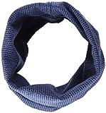 maximo Mädchen Halstuch 83600-015700, GOTS Tube, Jersey, Strickoptik, Blau (Jeansmeliert-Marine 63), 2