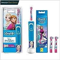 Oral-B Çocuklar İçin Şarj Edilebilir Diş Fırçası + 2'li Yedek Başlık, Frozen