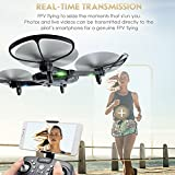 Hanbaili FPV Drone, Foldable Drone with Altitude Hold Headless Mode 6-Axis Gyro RC Quadcopter with Wide-angle 720p 2MP Camera