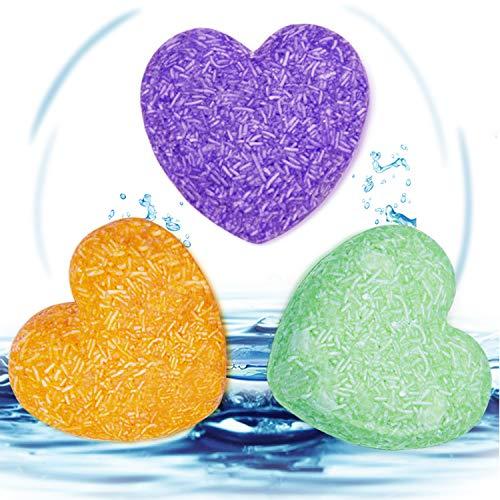OCYCLONE Festes Shampoo, Bio Vegan [Jasmin Lavendel Olive] Verschiedene Duft-Pflanzenessenz Haar Seife Natürliches Organisches Festes Shampoo Anti Schuppen Shampoo Seife, 3 PACK