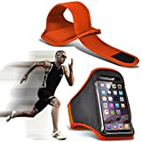 I-sonite réglable résistant à la Transpiration/résistants à l'eau Sports Fitness Course à Pied Cyclisme Gym Brassard Coque de Protection pour Vivo v9 Youth [XXL] Vivo V9 Youth Orange