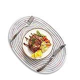 ZoiiBuy Cuisine Oval Platzset Tischset Hitzebeständig Rutschfest Abwaschbar Platzdeckchen 2 Stück und Tischsets aus Baumwolle für Zuhause Restaurant Speisetisch