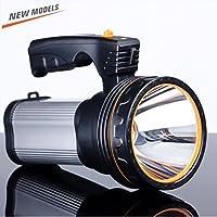 ROMER LED Rechargeable Handheld Searchlight High-power Super Bright 9000 MA 6000 LUMENS CREE Tactical Spotlight Torch Lantern Flashlight (plata)
