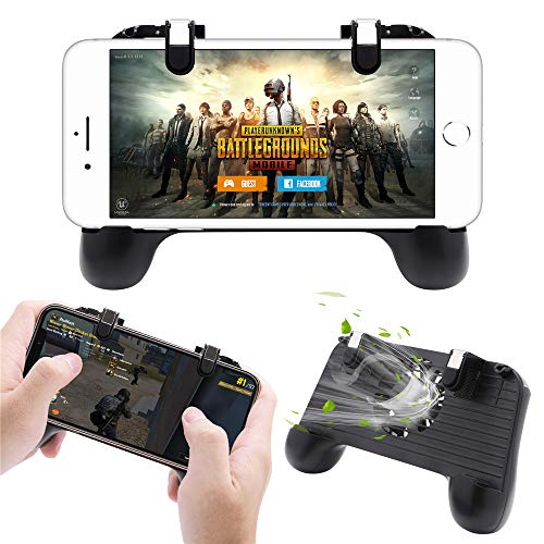 Pakesi Mobile Game Controller for PUBG 4-in-1 Upgrade Version Gamepad Shoot  and Aim Trigger Phone Cooling Pad Power Bank for Android & iOS