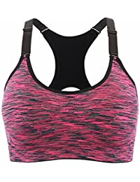 5ff82e401b CLOUSPO Sports Bra Women Pack of 1 PCS   3PCS Seamless Stretchy Space Dye  Yoga Bras