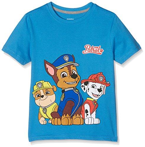 PAW PATROL Jungen Group T-Shirt, Blau (Mid Blue), 9-10 Jahre (Hersteller Größe:XL)