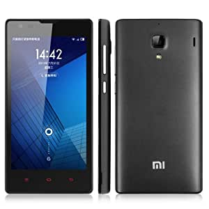 Xiaomi Hongmi Red Rice MIUI V5 OS Unlocked 3G Smartphone 4.7 Inch HD IPS Screen MT6589T Quad Core 1.5GHz 1G RAM+4G ROM 8.0MP Camera Dual SIM Card Dual Standby Mobile Phone OTG GPS Cellphone WIFI Bluetooth 4.0 Phablet +Free Genuine Syllable G02 High Quality Earphone(Dark Gray)