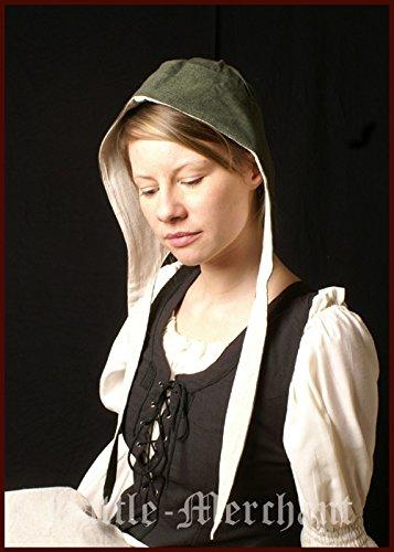 Haube Mittelalterliche (Mittelalterliche Bundhaube mit Innenfutter, div. Farben für LARP, Mittelalter, Wikinger Farbe)
