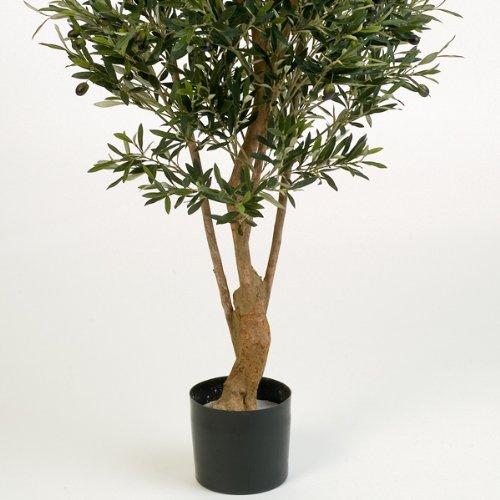 artplants – Deko Olivenbaum Alexandros, mit 4160 Blättern, 180 cm – künstlicher Baum/Olivenbaum künstlich