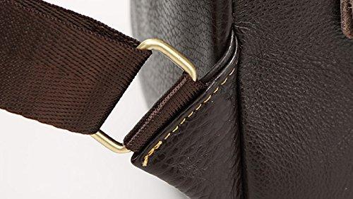 CLOTHES- Koreanische Version Der Schulter Schräge Kreuz PU Wilde Mode Freizeit Reisetasche Mann Paar Brust Tasche ( Farbe : Braun ) Kaffee - Farbe
