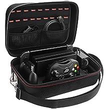 Lifeasy Nintendo Switch Deluxe- Reise, Spiel und Aufbewahrungskoffer. Tragbarer Schalenschutz für Nintendo Switch.Umhängetasche aus harter Schale, weiches Futter. Für 18 Spiele für Switch Konsole & Zubehör