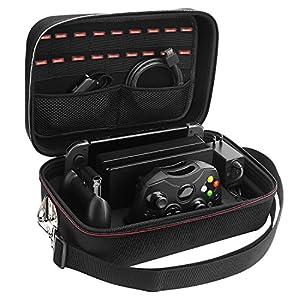 Lifeasy Nintendo Switch Deluxe- Reise, Spiel und Aufbewahrungskoffer. Tragbarer Schalenschutz für Nintendo Switch.