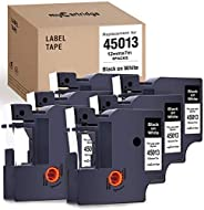 myCartridge 6-Pack Compatible with DYMO D1 Label Tape 45013 (S0720530) Black on White Replacement for DYMO Lab