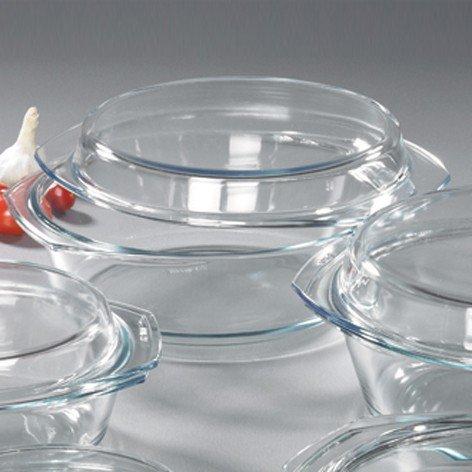 SIMAX Schüssel mit Deckel, Glas, Transparent, 24.9 x 24.9 x 9.3 cm