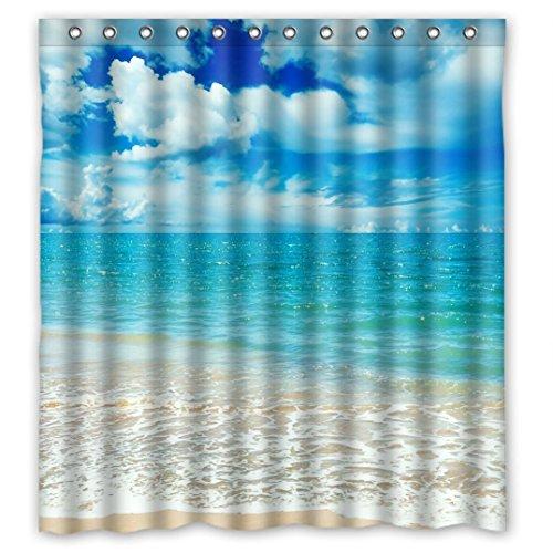 Nice Scenic ungewöhnlichen Bild Scenery Design Sea Oceans blau Wasserdicht Duschvorhang aus Stoff, 167,6x 182,9cm, Fleece, B, 66