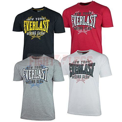 "Everlast T-Shirt ""NY Boxing Club"" - Kampfsport & Boxen Shirt S M L XL schwarz red weiß grau New York weiss M"