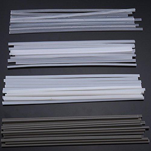LaDicha 50PCS Kunststoff-Schweißstäbe ABS/PP/PVC/PE-Schweiß Stöcke 200mm für Kunststoff-Schweißen - Hardware-verschlüsseltes Laufwerk