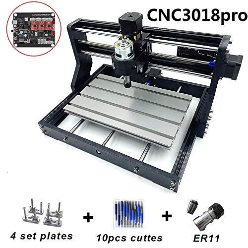 CNC-Maschine CNC3018 PRO DIY-Router-Kit, Holz Fräsmaschine für Lasergravur-Fräser, 3 Achsen, Holzfräser, Lasergravur mit Offline-Controller