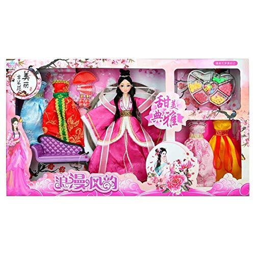 Geburtstag Weihnachtsgeschenke Chinesische Alte Puppen Vier Schönheit Chinesischen Stil Klassische Hanfu Kostüm Kleid Puppe Geschenkbox Mädchen kinder DIY Spielzeug (Stil : 2(Zhaojun Wang))