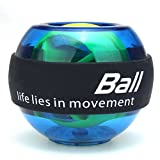 Slimerence Rotazione Palla, mano Trainer energyball con Light polso trainingsgeraet per ARM polso Hand Power Training ball, Blau