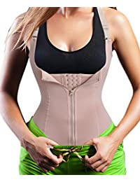 1a96751e211 Chumian Women s Underbust Corset Waist Trainer Cincher Steel Boned Body  Shaper Vest with Adjustable Straps
