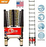 #9: Euro Telescopic Aluminium Ladder 2.9 Mtr (9.5 Feet) - Stores At 2.5 Feet -Made In USA - Ultra Portable