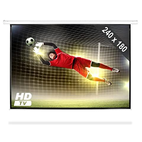 Roll-up Home Cinema Projector Screen HDTV (240x180cm, Gain Factor: 1.0, Optimized for HDTV)