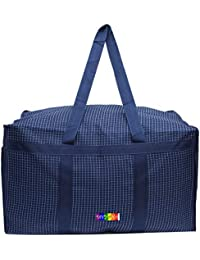 b53b82b29d5 DIVYANA Blue 80 Ltrs Polyester Foldable Water Resistant Extra Large Travel  Duffle Bag