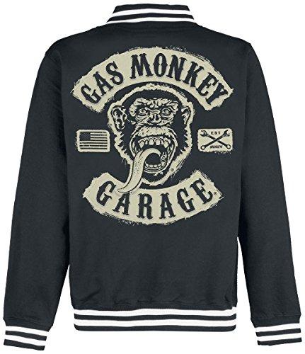 Gas Monkey Garage GMG Patch Veste Collège noir Noir