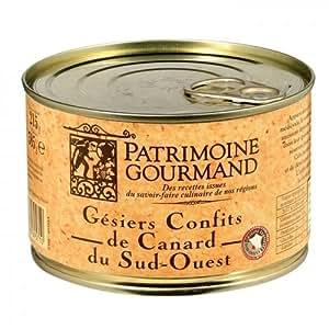 Patrimoine Gourmand - PATRIMOINE GOURMAND - Gésiers confits de canard du Sud Ouest 385 g