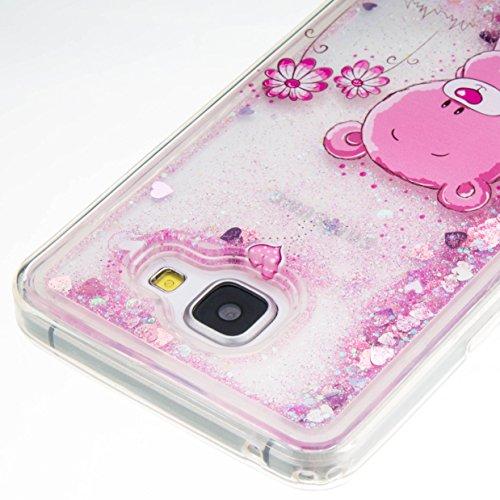 für Samsung Galaxy A5 (6) SM-A510F (2016) Hülle, 3D Fließen Flüssig Schwimmend Treibsand Stern Bling Luxus Shiny Glanz Sparkle Kristall Crystal Bunte der Liebe Design zurück Tasche Schutzhülle für Sam 4