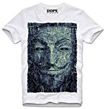 DOPEHOUSE T-SHIRT PSYCHEDELIC TRIPPY ANONYMOUS GUY FAWKES V FOR VENDETTA OCCUPY WALLSTREET, M