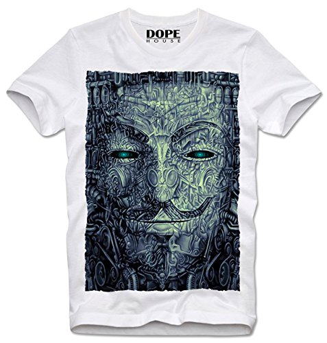 d67148d7 DOPEHOUSE T-SHIRT PSYCHEDELIC TRIPPY ANONYMOUS GUY FAWKES V FOR VENDETTA  OCCUPY WALLSTREET, M