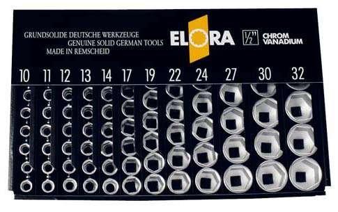 Elora espositore vuoto per inserti per chiave a bussola 1/2', Elora-lsp2l 770lsp2l 770