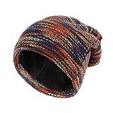 SANDALUP Multicolor Wintermütze Mütze mit weichem Korallen Samt-Futter Mütze für Damen und Herren