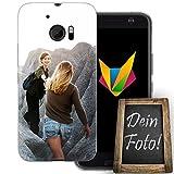 dessana Beste Freundin Handyhülle Personalisiertes Geschenk dünne Silikon TPU Case Eigenes Foto Motiv für HTC 10 Ohne Text