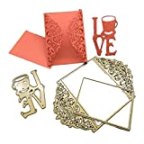 Scrapbooking Cutting Dies,Omiky® Geometry Stencils Die Cut Template with Bride Bridegroom Fairy Love Gift Flower Present For DIY Scrapbooking Album Paper Card Art Craft Making Party Decor (Love and Envelope)