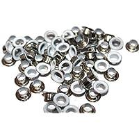 Ösen, 4 mm, Weiß Silber &Unterlegscheiben, Packung mit 100 Ösen &Unterlegscheiben preisvergleich bei billige-tabletten.eu