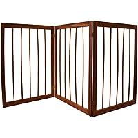 Puerta plegable con 3partes de madera para perro