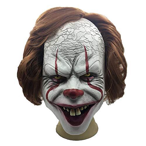 JOKOP Clown gruselig Maske Halloween Latex Masken Kostüm für Karneval Erwachsene Party Cosplay - Labyrinth Kostüm Halloween