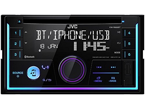 JVC Autoradio KWR930BT 2 DIN Bluetooth Spotify mit Einbauset für Lexus IS 300 (XE1 Facelift) 2001-2005 (Upgrade Lexus Navigation)
