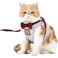 Sue Supply Arnés y correa para gatos, ajustable, cómodo, suave, chaleco, chaleco con correa para gatos, cachorro, paseo/correr