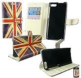 Emartbuy® Amazon Fire Phone Premium PU Leder Brieftaschen Wallet Etui Hülle Case Cover aus PU Leder Union Jack mit Kreditkartenfächern