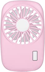 Vosarea Handheld Mini Fan Camera Personal Portable USB Rechargeable Battery Fan for Office Home (Pink)