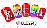 Dibujos animados Print Diseño–2Unidades–Clavo Pegatinas Dibujos animados Water Transfer Pegatinas Nail Art Agua Design–Clavo Tattoo, diseño Mickey Mouse Minnie ratón diseño–b2248