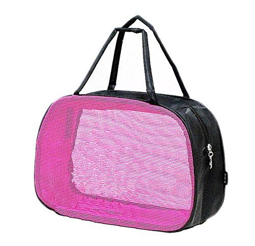 Quick Dry Mesh-Dusche Caddy, Dusche Tote, Dusche Bag, für Reise-Pink C